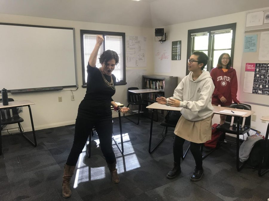 Theatre artist Julie Rada works with current perspectives students as a quest lecturer.