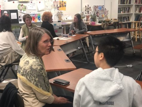 Westridge alumna Sylvia Holmes '76 talks to Staff Reporter Emerson, about what she's been doing.