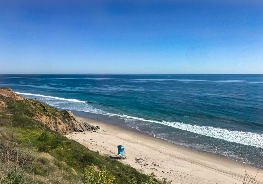 In Malibu, beaches often dotted with swimmers are empty.