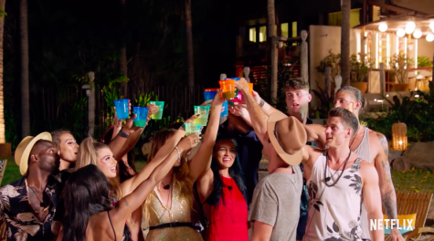 The contestants make a toast after celebrating the night's events.