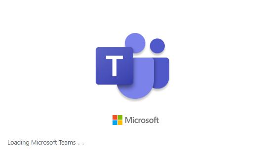 Microsoft Teams app loading screen.