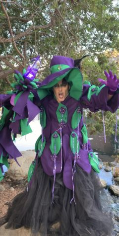 Kelly Koch dressed as a witch.