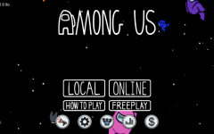 (Photo Credit: Lauren C. 24', The home screen of the game, with floating astronauts)