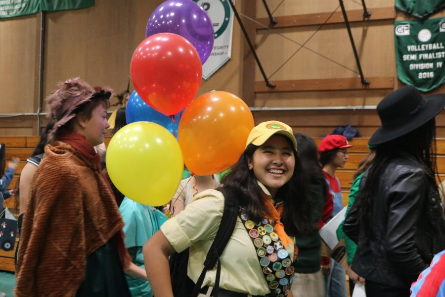 Athena N. '23, as Russel from Pixar movie, Up