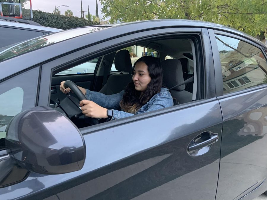 Maria G. I. '24 practicing driving. (Grace Iannotti)