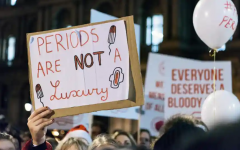 A protest in 2019 that advocated for menstrual equity. (The Guardian)